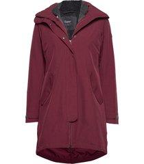 oslo 3in1 w coat parka lange jas jas rood bergans