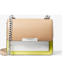 mk borsa a tracolla jade extra-small in pelle tricolore - limelght mlt - michael kors