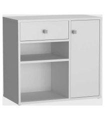 conjunto mesa e armário home office branco nova mobile