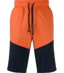 brunello cucinelli two tone shorts - orange