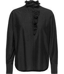 frillo new blouse blouse lange mouwen zwart second female