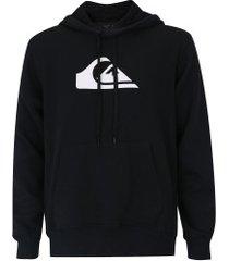 blusão de moletom com capuz quiksilver mountain wave - masculino - preto