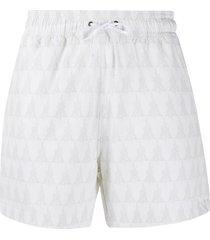 amiri logo print swim shorts - white
