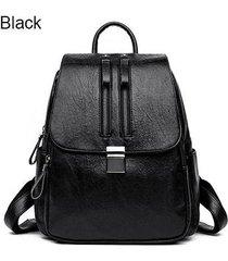 mochilas/ doble cremallera mujeres mochila bolsas de-negro