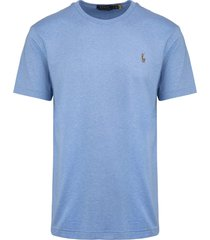 man light blue jersey t-shirt with multicolor logo