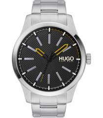 hugo men's #invent stainless steel bracelet watch 46mm