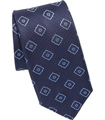 pattern square silk tie