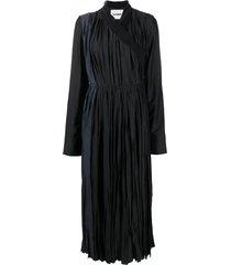 jil sander wraparound pleated dress - black