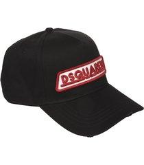 dsquared2 logo embroidered baseball cap