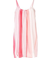lemlem striped mini beach dress - pink