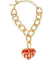 paint heart necklace