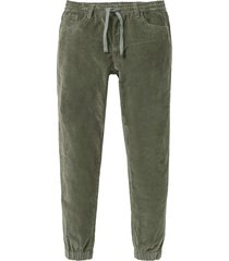 pantaloni in velluto con elastico in vita regular fit straight (verde) - rainbow