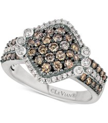 le vian chocolatier diamond cluster ring (1-1/8 ct. t.w.) in 14k white gold