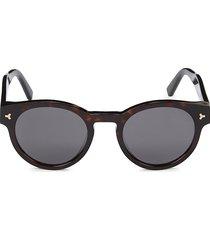 bally women's 50mm faux tortoiseshell round sunglasses - havana