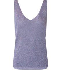 lurex top loose fit paars