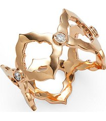 chloe 18k rose gold & diamond cutout ring