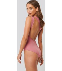 trendyol color block swimsuit - pink