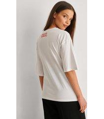 trendyol oversize t-shirt - white
