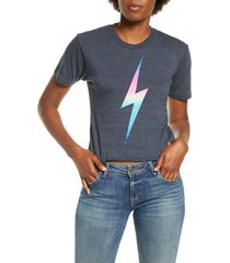 aviator nation bolt crop tee, size large in rainbow pink at nordstrom