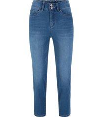 jeans elasticizzato push-up 7/8 dritto (blu) - bpc bonprix collection