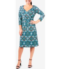 ny collection floral-print fit & flare dress
