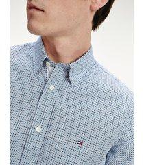 camisa estampado geométrico multicolor tommy hilfiger