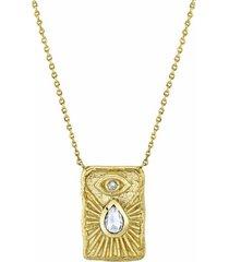 angel eye shield necklace