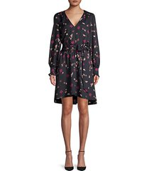 marlayne belted floral dress