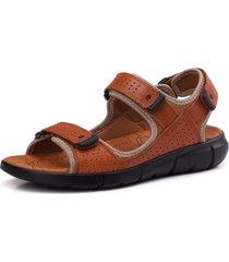 sandali casuali della spiaggia del gancio del cuoio genuino degli uomini di grandi dimensioni