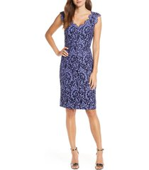 women's eliza j floral lace v-neck sheath dress