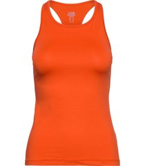 essential racerback t-shirts & tops sleeveless orange casall