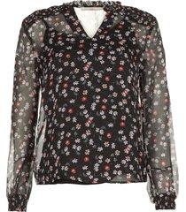 blouse met print charley  zwart