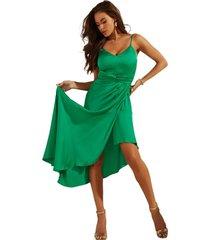 vestido sl kaia dress g8m7 verde guess