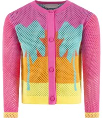 stella mccartney kids multicolor cardigan for girl with palms
