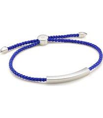 sterling silver linear men's friendship bracelet