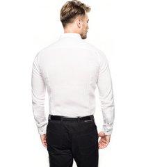 koszula bexley l2612 długi rękaw slim fit biały