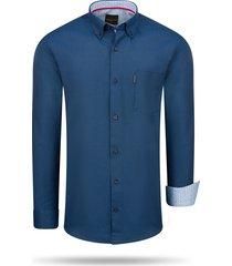 cappuccino italia regular fit overhemd navy blauw