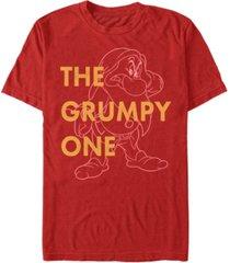 disney men's grumpy old dwarf short sleeve t-shirt