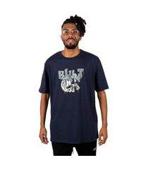 camiseta masculina blunt básica melting - marinho p