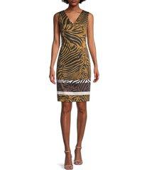 kobi halperin women's nova zebra sheath dress - caramel multi - size l