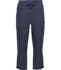 hugh linen pants casual broek vrijetijdsbroek blauw lexington clothing