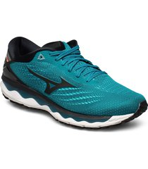 wave sky 3 shoes sport shoes running shoes blå mizuno