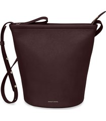 mansur gavriel leather zip bucket bag - purple