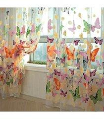 ventana moderna de la cortina de la mariposa grande de impresión pantallas del bolsillo de rod inicio salón decoración - 1x2m