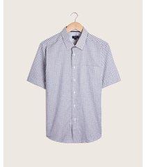 camisa manga corta, con bolsillo de parche, preteñida