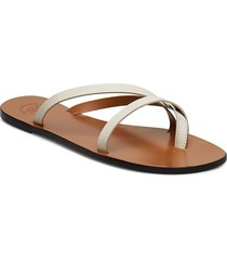 anise black vacchetta shoes summer shoes flat sandals guld atp atelier