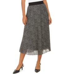 alfani pleated metallic midi skirt, created for macy's