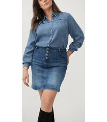 jeanskjol jally knee lenght skirt