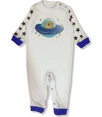 macacã£o manga longa astronauta branco - branco - dafiti