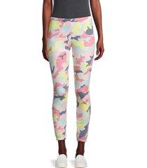 wildfox women's camouflage cotton-blend pants - size m